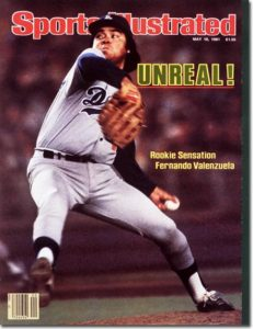 Fernando Valenzuela-LA Dogers Pitching Rookie Senstation May 18, 1981 X 25590 credit: Manny Millan - staff
