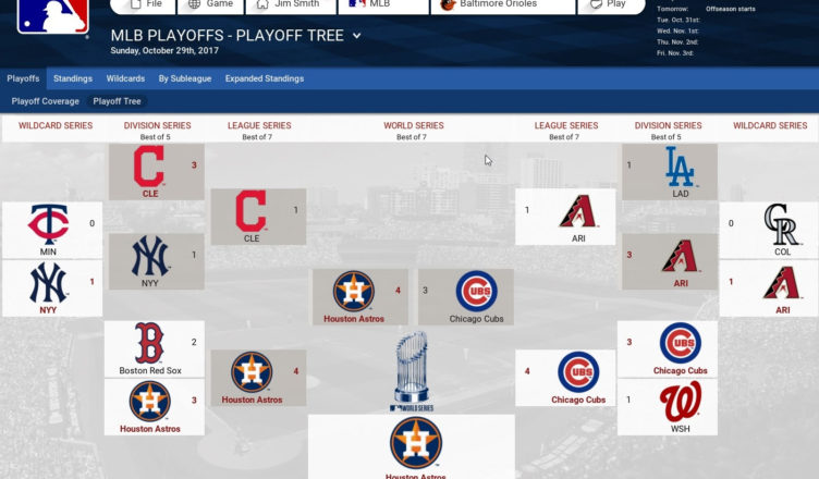 2017 OOTP Postseason Predictions