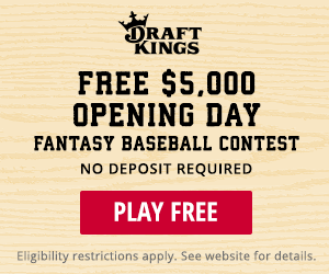 Draftkings MLB Opening Day Contest